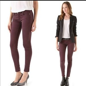 PAIGE Verdugo ankle skinny jeans in fig burgundy